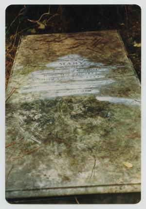 Primary view of object titled '[Grave Marker of Mary Allen Smith]'.