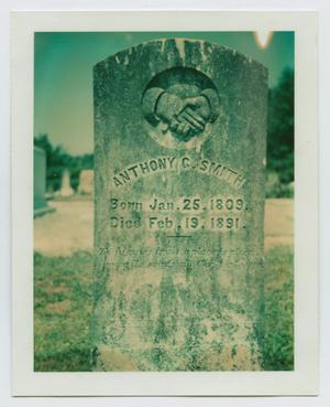 Primary view of object titled '[Grave Marker of Anthony Garnett Smith, Jr.]'.