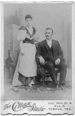Primary view of object titled '[Studio Portrait of a Couple]'.