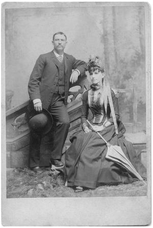 Primary view of object titled '[Studio Portrait of Fred and Lilly Seals]'.