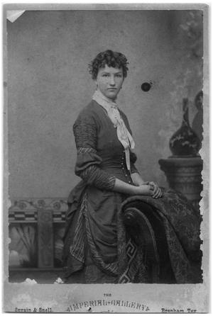 Primary view of object titled '[Studio Portrait of a Woman]'.