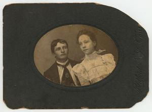 Primary view of object titled '[Photograph of Carl Renner and His Wife]'.