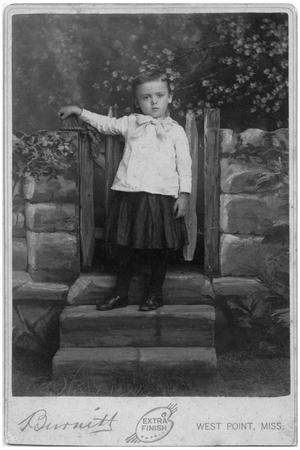 Primary view of object titled '[Studio Portrait of a Child]'.
