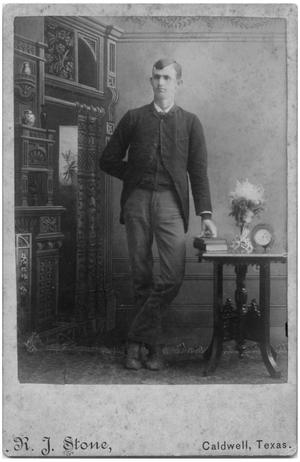 Primary view of object titled '[Studio Portrait of a Man]'.