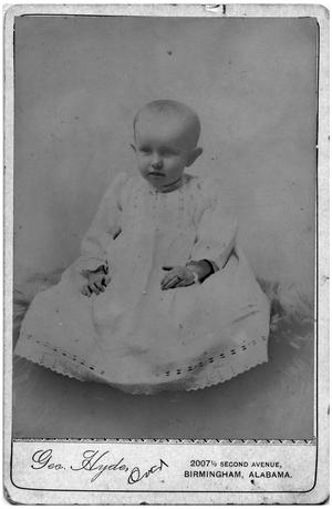"Primary view of object titled '[Portrait of a ""Little Minnie Nell""]'."