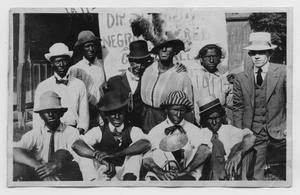 Primary view of object titled '[Acting Troupe in Blackface]'.
