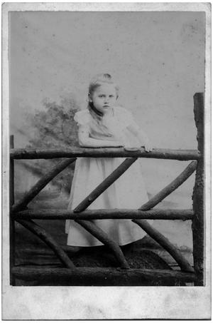Primary view of object titled '[Young Girl by a Log Fence]'.
