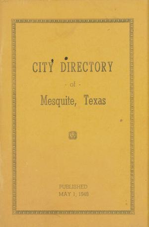 Primary view of object titled 'City Directory of Mesquite, Texas'.