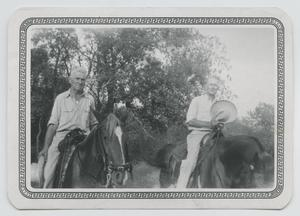 Primary view of object titled '[Anson Holley and Raymond Holley on Horseback]'.