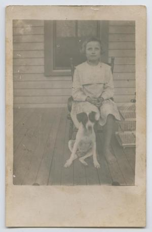 [Eula Holley on Porch]