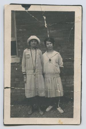 Primary view of object titled '[Eula Holley and Friend]'.
