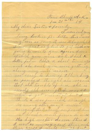 Primary view of object titled '[Letter to Mrs. Martha Parks, 30 January 1914]'.