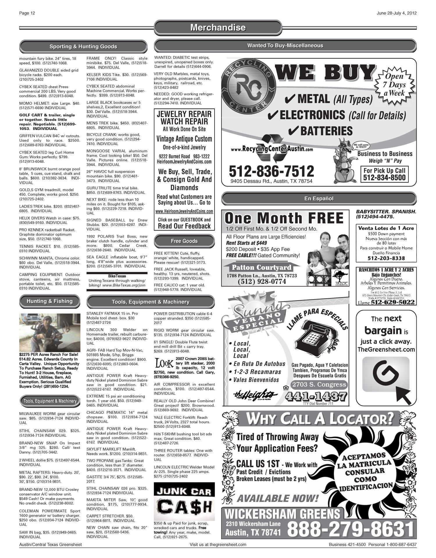 Greensheet homes for rent austin tx - Cheap The Greensheet Austin Tex Vol No Ed Thursday June Page Of The Portal To Texas History With Greensheet Houses For Rent