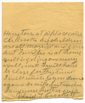 Primary view of object titled '[Letter to D.C. Parks, 18 December 1908]'.