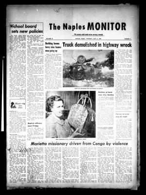 Primary view of object titled 'The Naples Monitor (Naples, Tex.), Vol. 75, No. 2, Ed. 1 Thursday, August 4, 1960'.