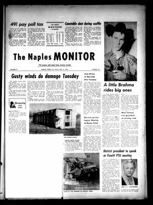 Primary view of object titled 'The Naples Monitor (Naples, Tex.), Vol. 74, No. 29, Ed. 1 Thursday, February 11, 1960'.