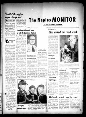 Primary view of object titled 'The Naples Monitor (Naples, Tex.), Vol. 74, No. 40, Ed. 1 Thursday, April 28, 1960'.