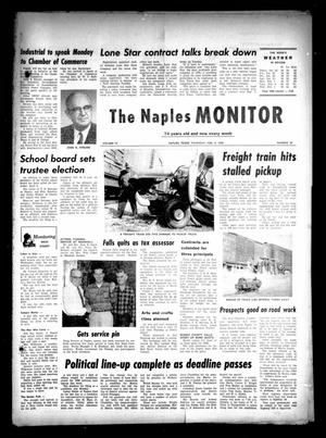 Primary view of object titled 'The Naples Monitor (Naples, Tex.), Vol. 74, No. 28, Ed. 1 Thursday, February 4, 1960'.