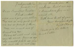 Primary view of object titled '[Letter to Mr. Milton Parks, 29 June 1905]'.