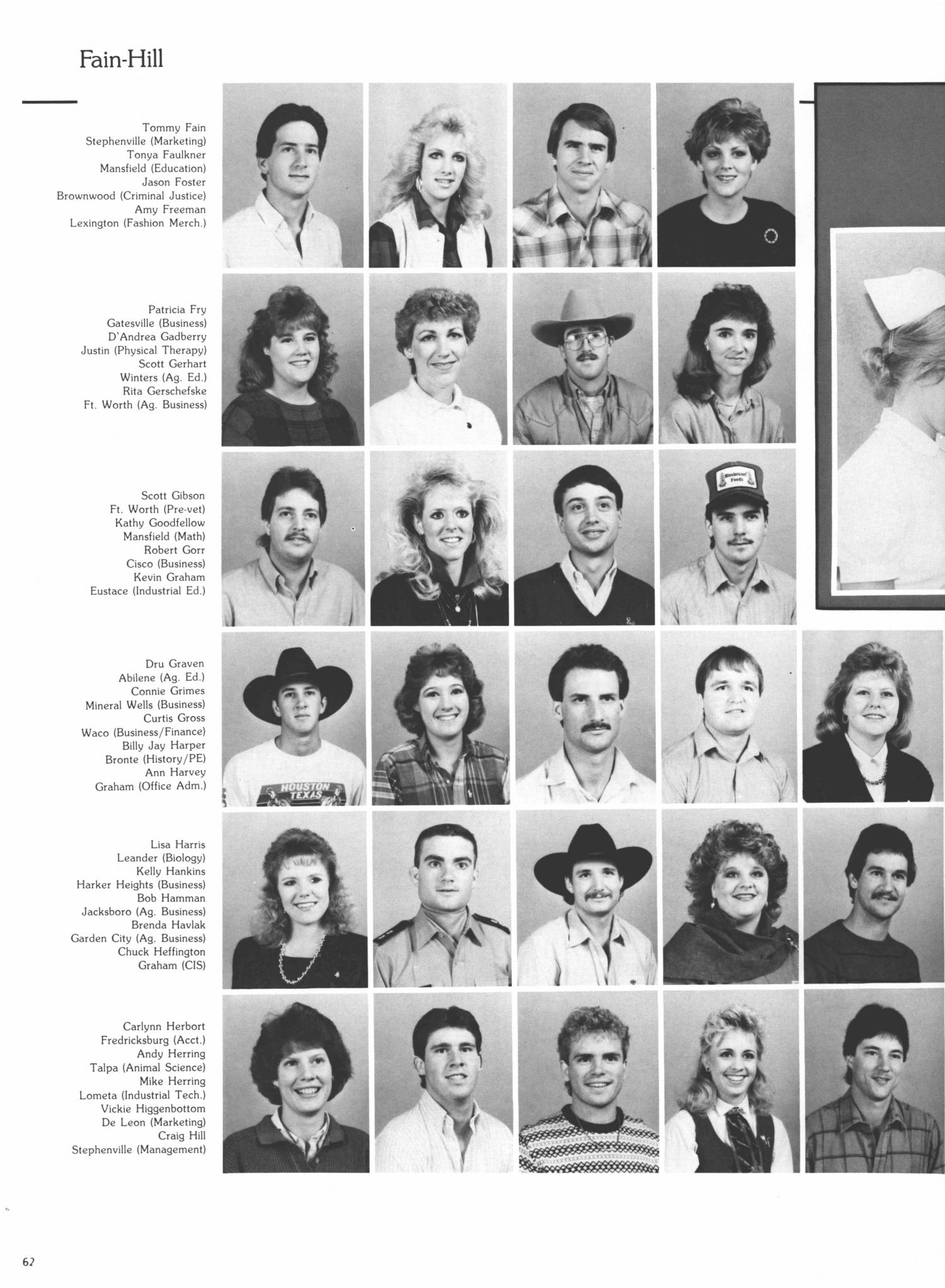 History of physical therapy - The Grassburr Yearbook Of Tarleton State University 1987 Page 62 The Portal To Texas History