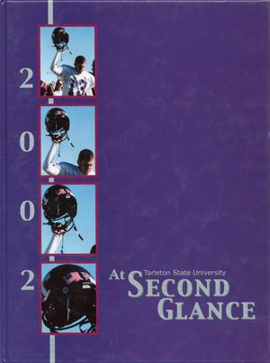Primary view of object titled 'The Grassburr, Yearbook of Tarleton State University, 2002'.