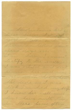 Primary view of object titled '[Letter to Ms. Martha Crockett Parks, 26 February]'.
