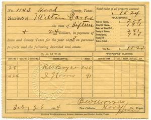 Primary view of object titled '[Tax Documentation for Milton Parks]'.