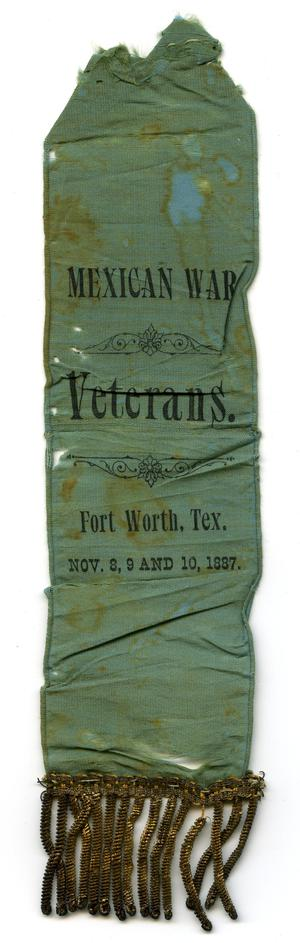 Primary view of object titled '[Mexican War Veteran's Ribbon]'.