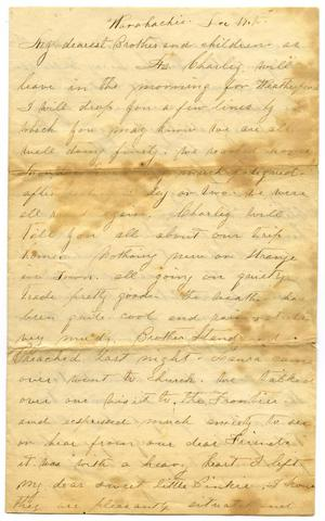 Primary view of object titled '[Letter from Mollie, 17 December]'.