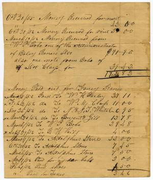 Primary view of object titled '[Payment Log, 20 October 1855]'.