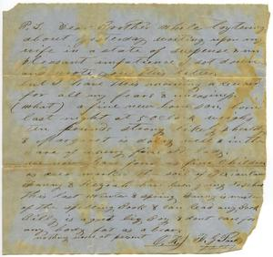Primary view of object titled '[Letter by F.G. Parks]'.