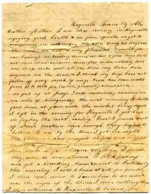 Primary view of object titled '[Letter to Mr. Milton Parks, 5 December 1846]'.