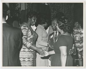 Primary view of [Barbara Jordan Greeting Guests]