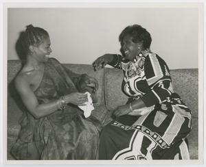 Primary view of object titled '[Barbara Jordan and Novella Nelson Laughing]'.