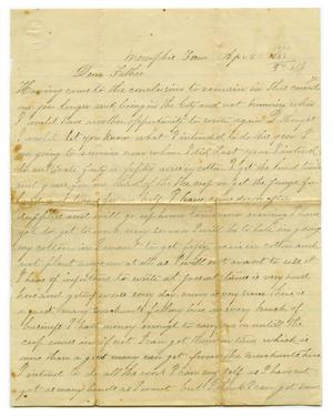 Primary view of object titled '[Letter from J.B. Crockett to father, April 5 1867]'.
