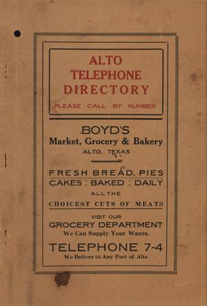 Primary view of object titled 'Alto City Directory'.