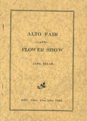 Primary view of object titled 'Alto Fair and Flower Show'.