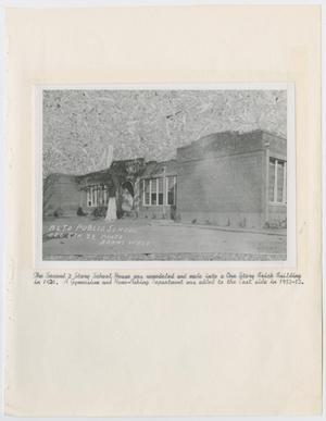 [Photograph: Second Two Story School Building]