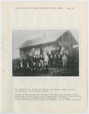 Primary view of object titled '[Photograph: Early Merchants of Alto, Texas]'.
