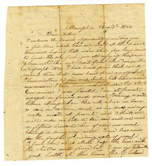 Primary view of object titled '[Letter from Robert P. Crockett to John Bell, August 8 1866]'.