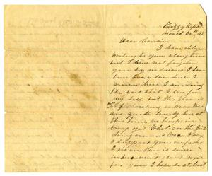 Primary view of object titled '[Letter to Milton Parks from cousin, March 30 1865'.