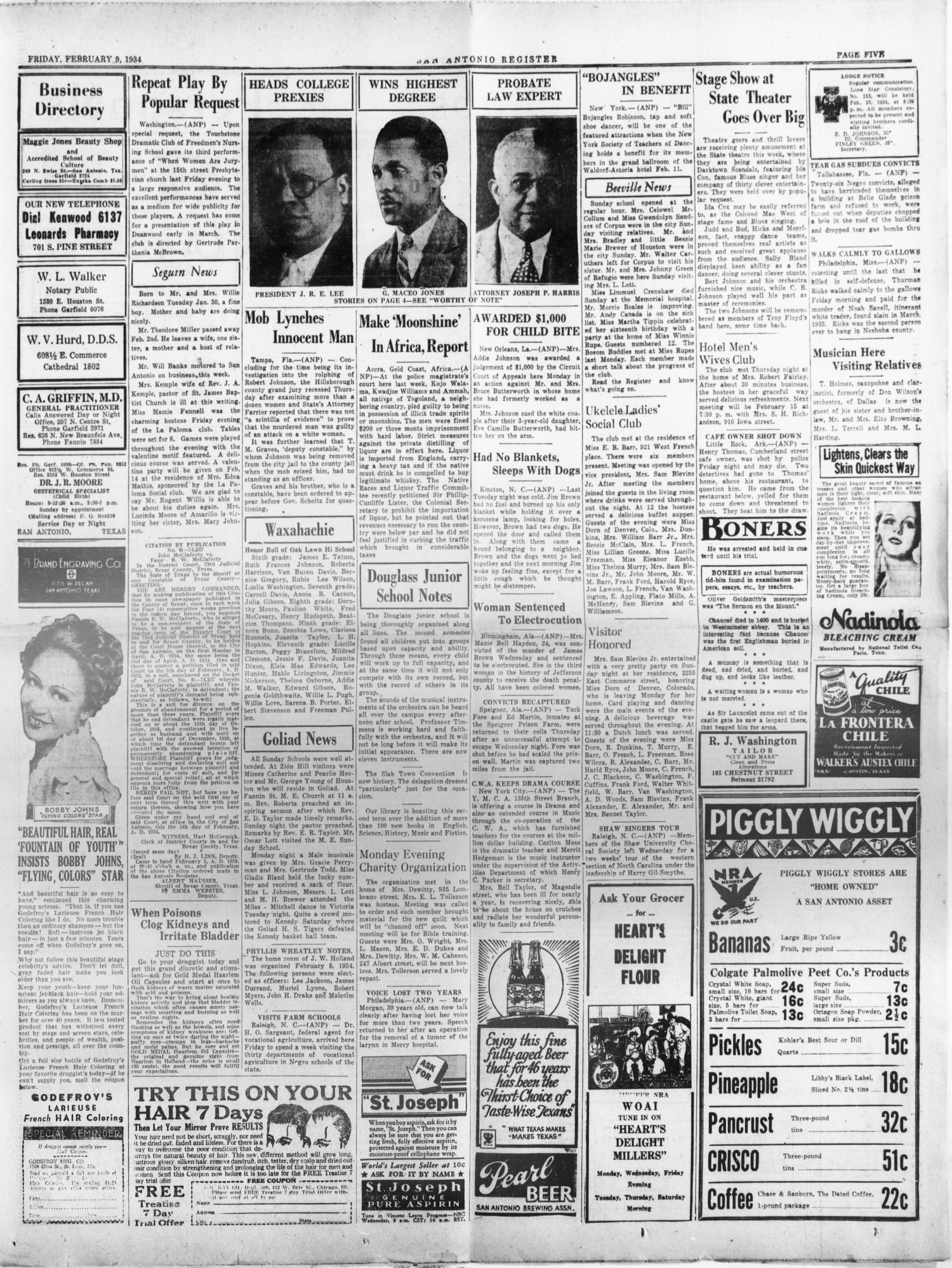 San Antonio Register (San Antonio, Tex ), Vol  3, No  45, Ed