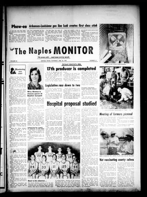 Primary view of object titled 'The Naples Monitor (Naples, Tex.), Vol. 76, No. 31, Ed. 1 Thursday, February 22, 1962'.