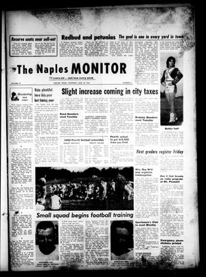 Primary view of object titled 'The Naples Monitor (Naples, Tex.), Vol. 77, No. 5, Ed. 1 Thursday, August 23, 1962'.