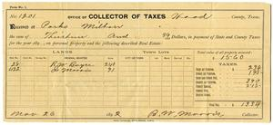 Primary view of object titled '[Office of Collector of Taxes, November 26 1892]'.