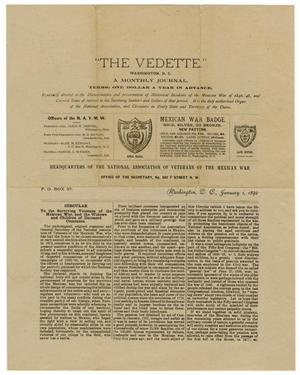 "Primary view of object titled '""The Vedette"" January 1, 1892'."