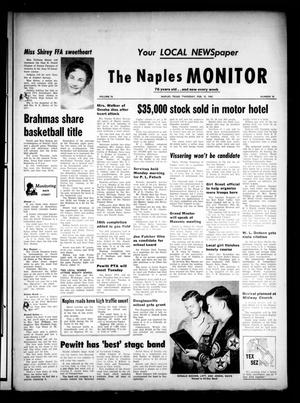 Primary view of object titled 'The Naples Monitor (Naples, Tex.), Vol. 76, No. 30, Ed. 1 Thursday, February 15, 1962'.