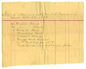 Primary view of object titled '[Copy of Settlement with Mrs. L.A. Crockett, September 28 1889]'.