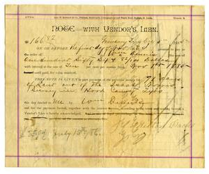 Primary view of object titled '[Hood County Payment Receipt for Milton Parks]'.