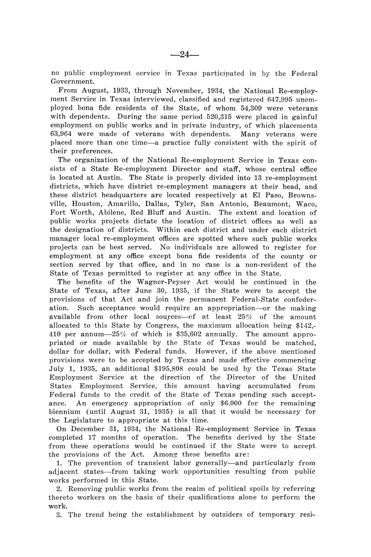 Legislative Messages of Hon. James V. Allred, Governor of Texas 1935-1939                                                                                                      [Sequence #]: 23 of 263